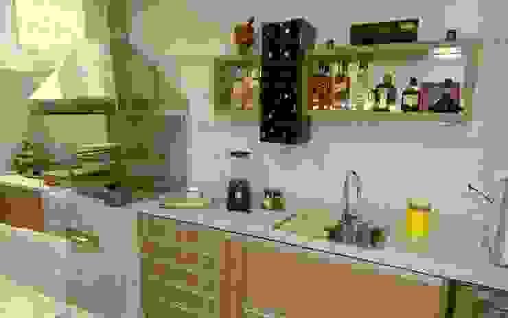 Churrasqueira e Bancada Cozinhas modernas por homify Moderno