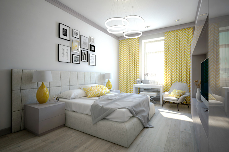 Minimalist bedroom by Елена Бодрова Minimalist