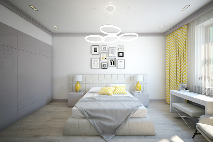 homify Minimalist bedroom Yellow