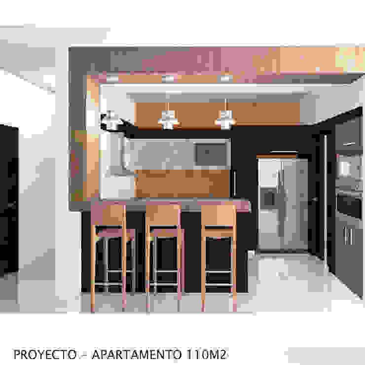 Imagen Objetivo Cocina Cocinas de estilo minimalista de retross arquitectura y proyectos Minimalista