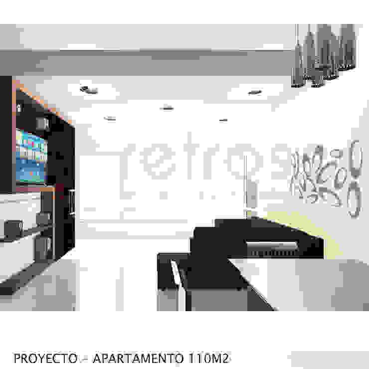 Imagen Objetivo Sala-Comedor Salas de estilo minimalista de retross arquitectura y proyectos Minimalista