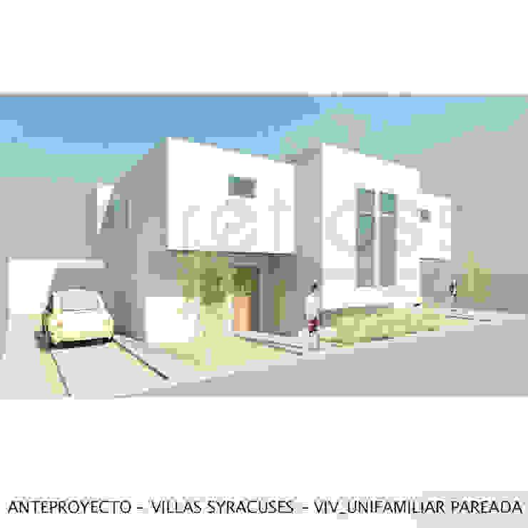 Vivienda unifamiliar pareada Casas de estilo minimalista de retross arquitectura y proyectos Minimalista