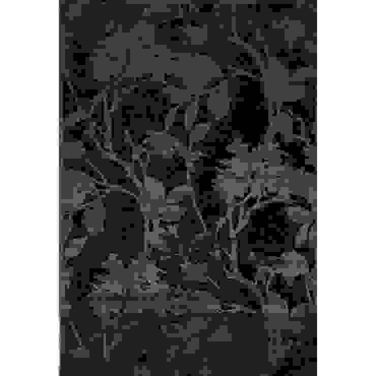 'Genova III' Modern black flower design rug by Sitap de My Italian Living Moderno