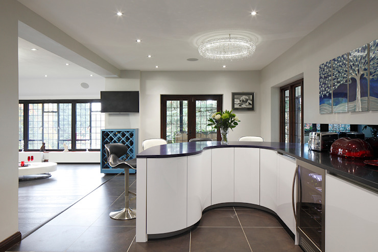 kitchen design curve Quirke McNamara Kitchen White
