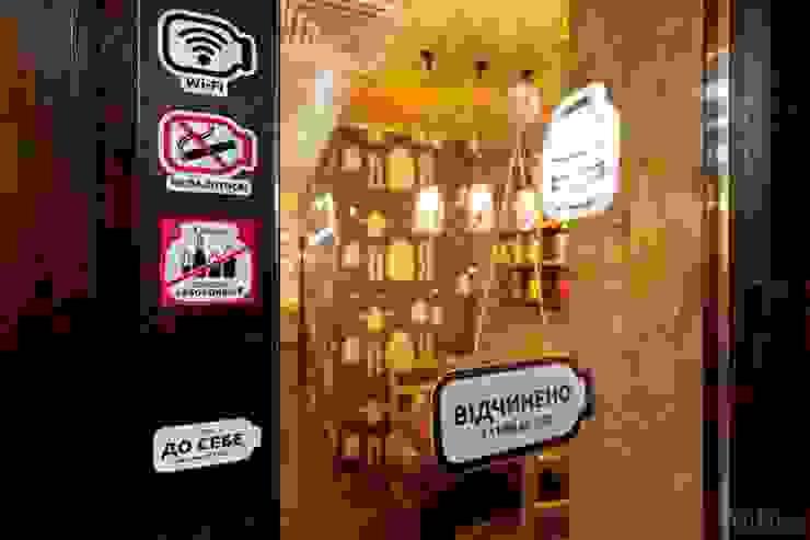"""Фан-бар """"Банка"""" Бары и клубы в эклектичном стиле от Студия дизайна Саши Федоренко Эклектичный"""