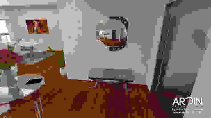 CUMBRES Pasillos, vestíbulos y escaleras modernos de ARDIN INTERIORISMO Moderno