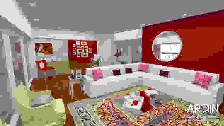 CUMBRES: Salas de estilo  por ARDIN INTERIORISMO, Moderno