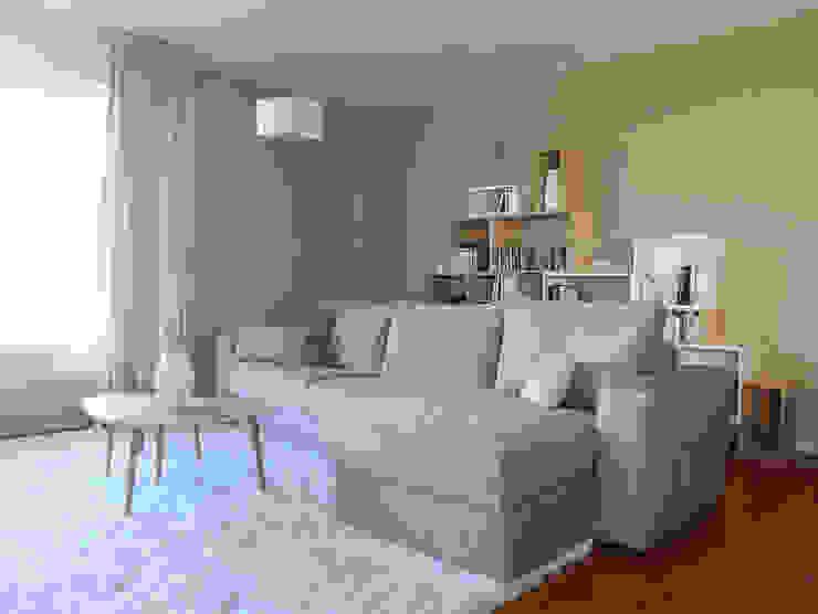 Un salon au style scandinave Salon moderne par homify Moderne Bois Effet bois
