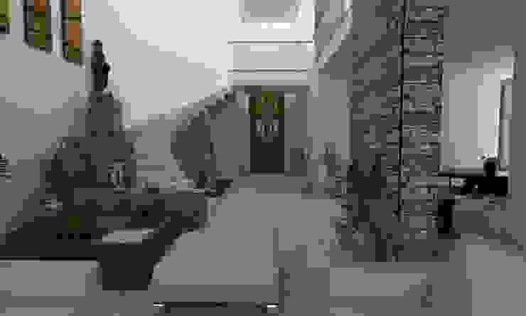 DISEÑANDO ESCALERAS Pasillos, vestíbulos y escaleras modernos de OLLIN ARQUITECTURA Moderno