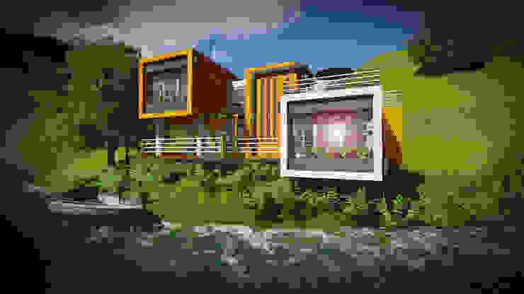 A orilla del Lago John J. Rivera Arquitecto Casas de estilo minimalista