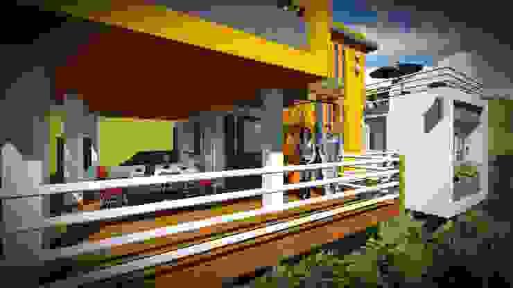 La Casa, un puerto para el disfrute del Agua. John J. Rivera Arquitecto Casas de estilo minimalista