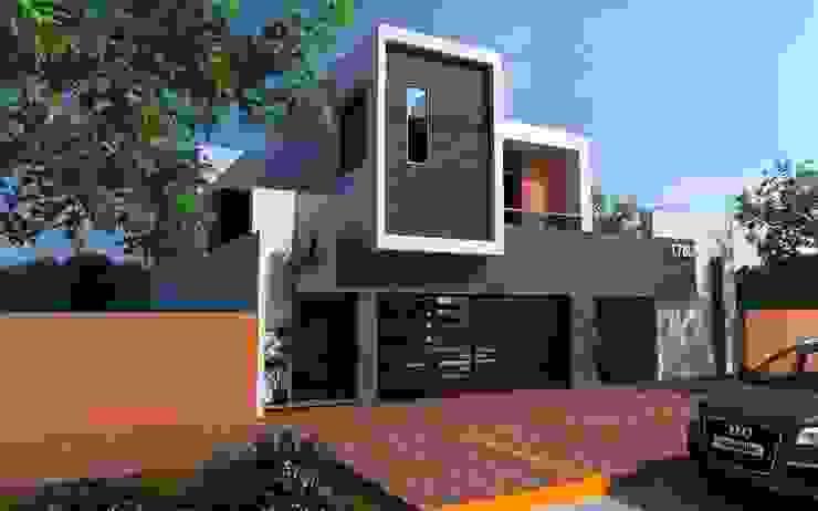 FACHADA PRINCIPAL Casas modernas de OLLIN ARQUITECTURA Moderno