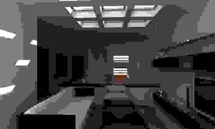 SALA TV Salas multimedia modernas de OLLIN ARQUITECTURA Moderno