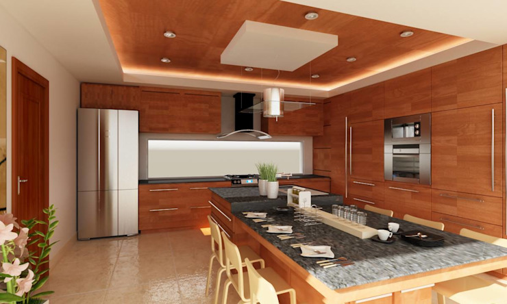 Modern kitchen by OLLIN ARQUITECTURA Modern