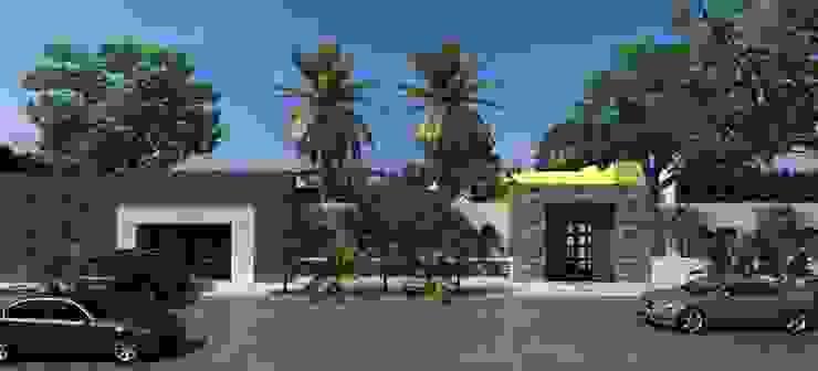 FACHADA EXTERIOR Casas modernas de OLLIN ARQUITECTURA Moderno