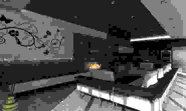 ENTRETENIMIENTO Salas multimedia modernas de OLLIN ARQUITECTURA Moderno