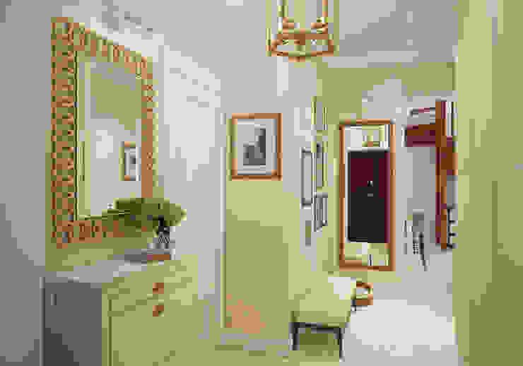 Прихожая. Два этажа уюта Коридор, прихожая и лестница в эклектичном стиле от «Студия 3.14» Эклектичный