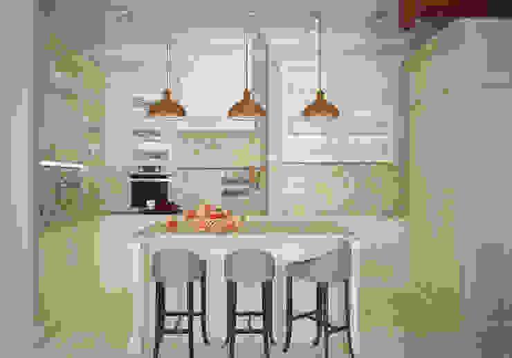 Кухня. Два этажа уюта Кухни в эклектичном стиле от «Студия 3.14» Эклектичный