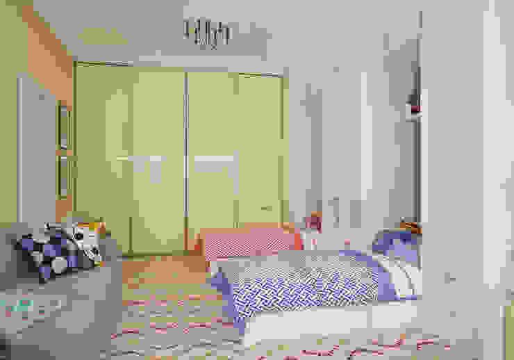 Детская. Два этажа уюта Детские комната в эклектичном стиле от «Студия 3.14» Эклектичный