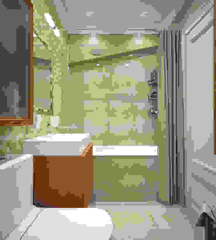 Ванная. Два этажа уюта Ванная комната в эклектичном стиле от «Студия 3.14» Эклектичный