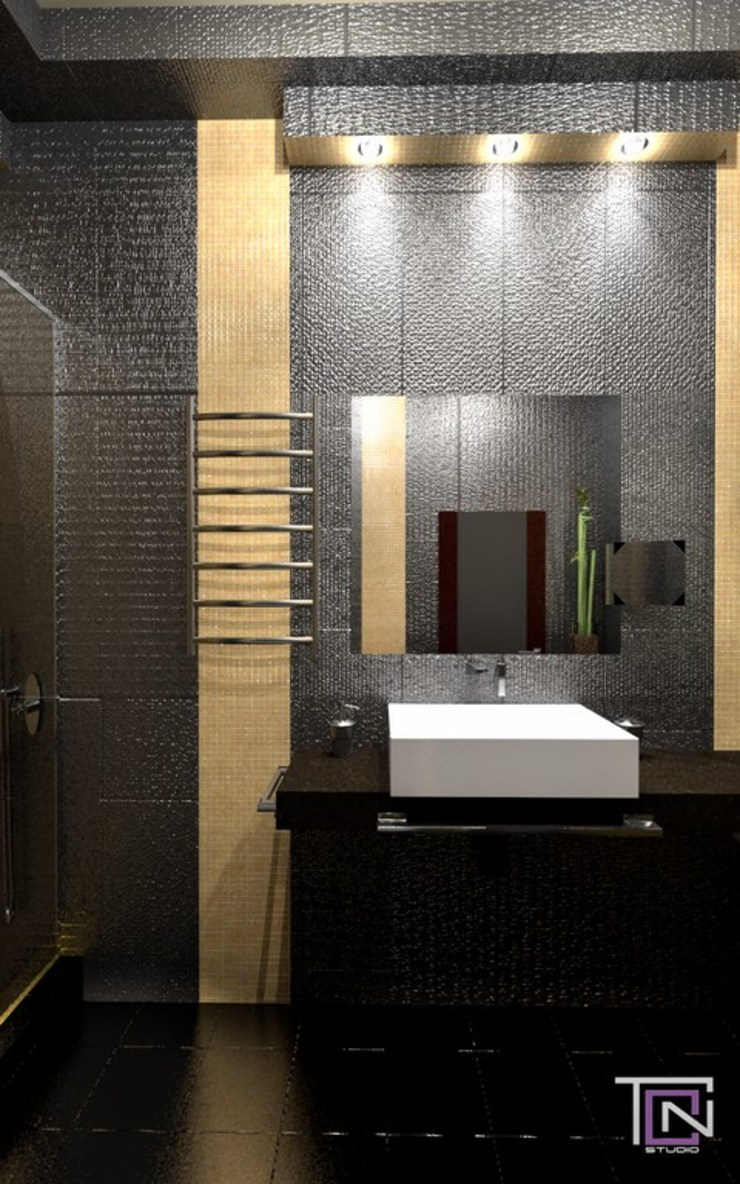 Дизайн – проект квартиры Ванная комната в стиле минимализм от Студия дизайна и проектирования ТОН Минимализм