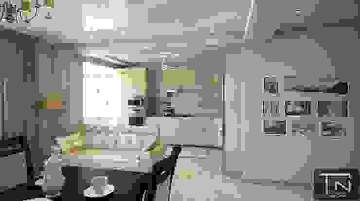 Интерьер основного помещения студии Гостиные в эклектичном стиле от Студия дизайна и проектирования ТОН Эклектичный