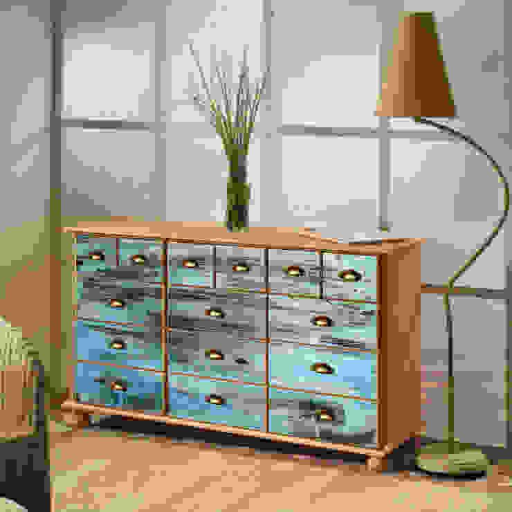 Caribic blue: industriell  von Berlin Art Design,Industrial Holz Holznachbildung