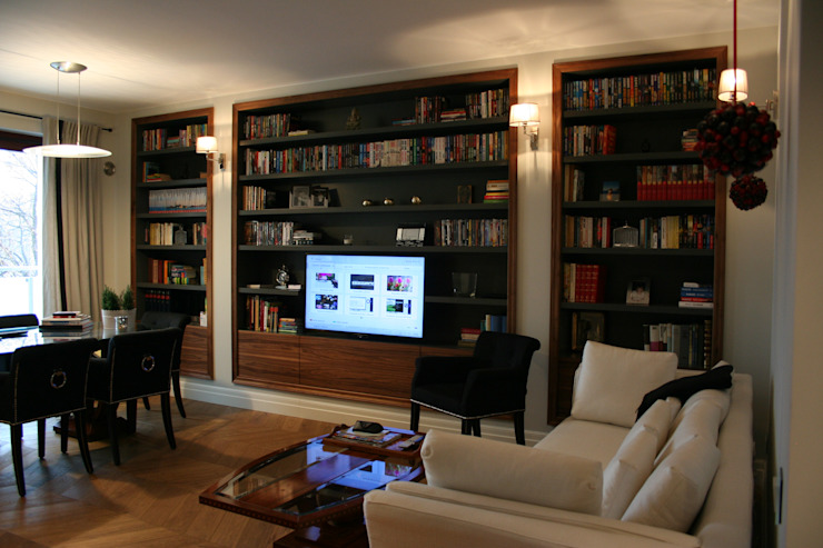 Classic style media room by Sic! Zuzanna Dziurawiec Classic Wood Wood effect