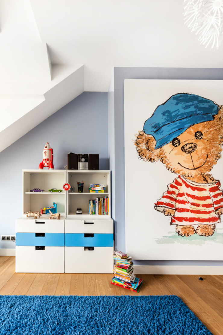 Our photoshoot of apartment design by Decocafe Architects Nowoczesny pokój dziecięcy od Ayuko Studio Nowoczesny