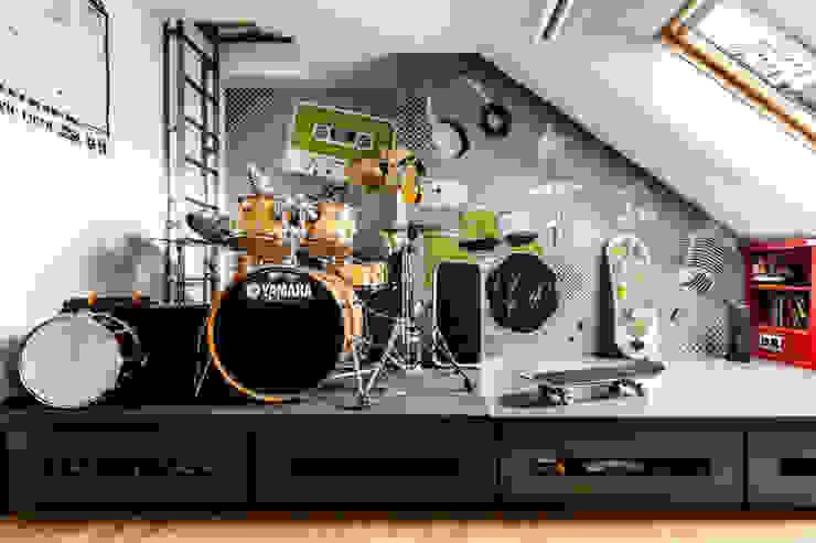 Modern Media Room by Ayuko Studio Modern