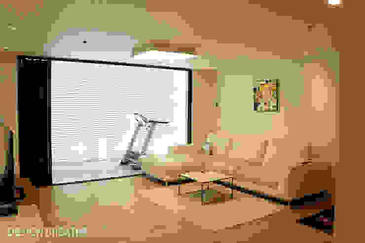 32평 초원대림아파트 리모델링 모던스타일 거실 by 디자인브리드 모던