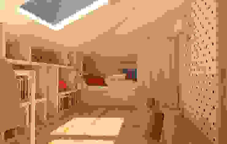 Dormitorios infantiles modernos: de Sic! Zuzanna Dziurawiec Moderno Contrachapado