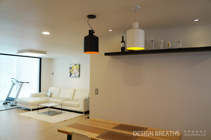 Modern dining room by 디자인브리드 Modern