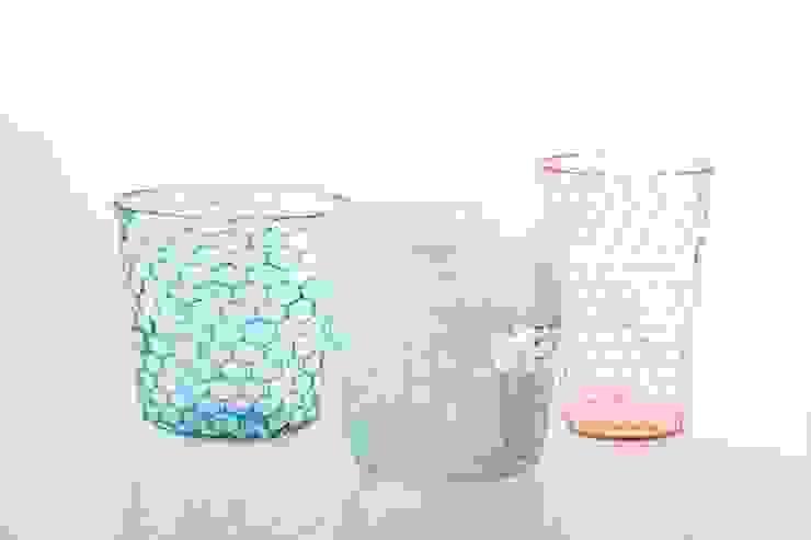 ツギハギグラスとイロアミグラス: 吉村桂子が手掛けた現代のです。,モダン