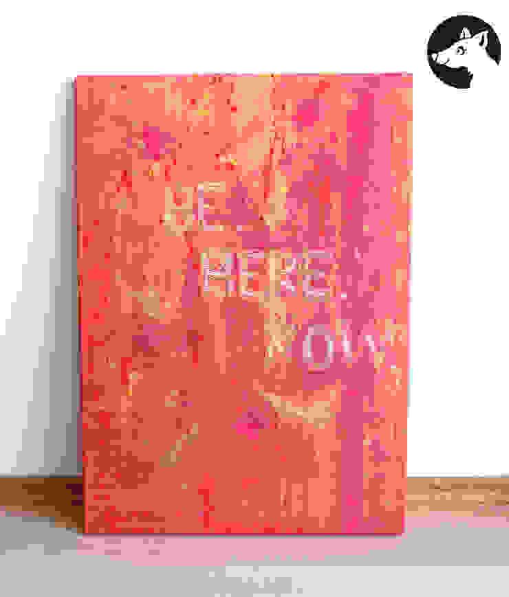 BE HERE NOW, Original, Acryl auf Leinwand: modern  von Little Walking Wolf,Modern