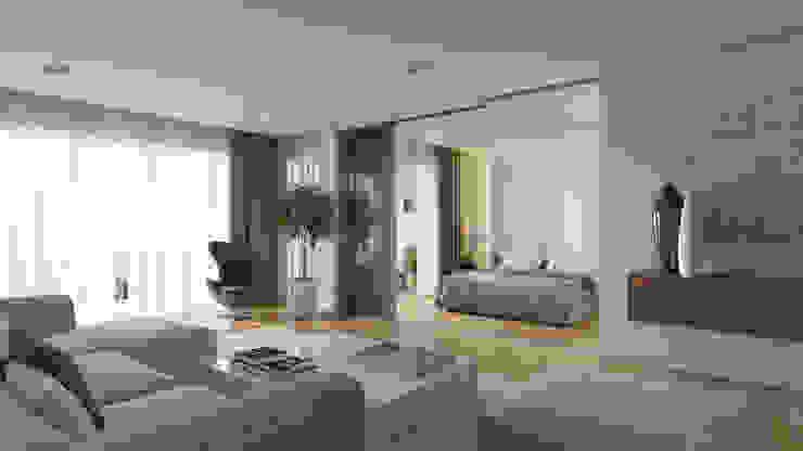 Phòng khách phong cách tối giản bởi Aleksandra Kostyuchkova Tối giản