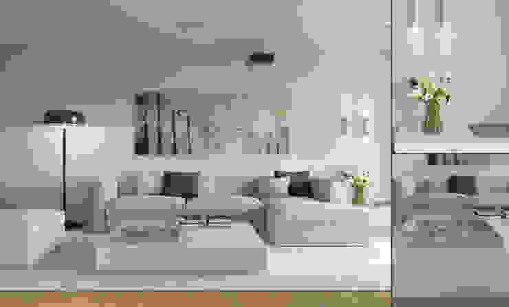 Апартаменты в Германии.Визуализация. Гостиная в стиле минимализм от Aleksandra Kostyuchkova Минимализм