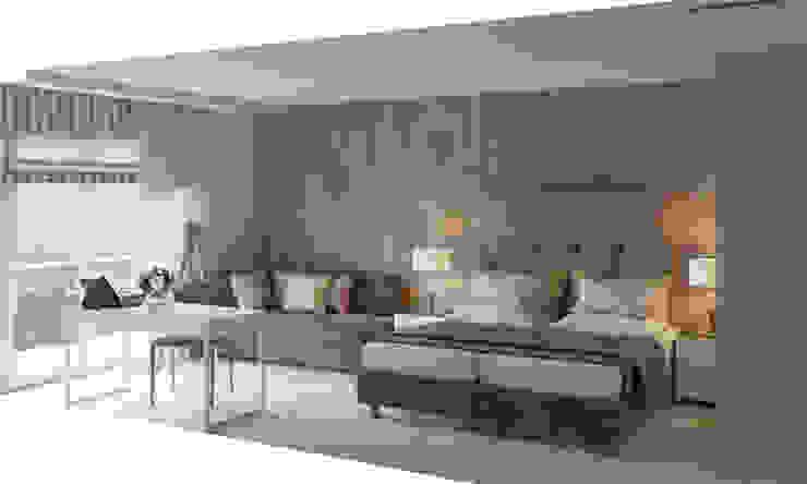 Minimalistyczna sypialnia od Aleksandra Kostyuchkova Minimalistyczny