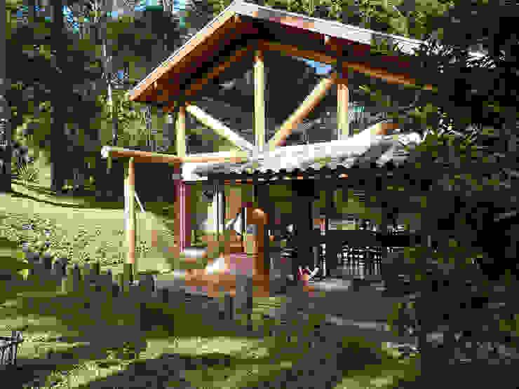من Sakaguti Arquitetos Associados ريفي خشب Wood effect