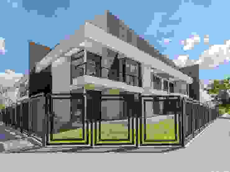 DOBLE FACHADA CELOIRA CALDERON ARQUITECTOS Casas modernas: Ideas, imágenes y decoración