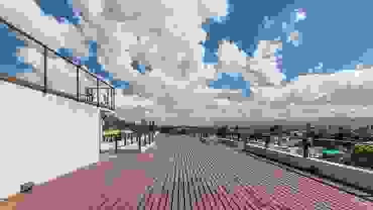 DECK CELOIRA CALDERON ARQUITECTOS Balcones y terrazas modernos