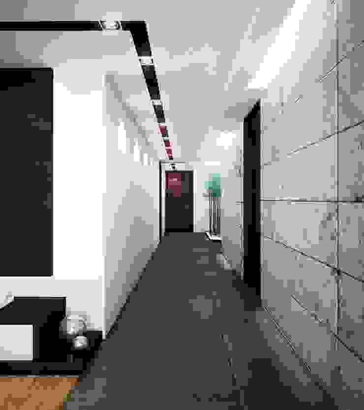 CASA PR Pasillos, vestíbulos y escaleras modernos de 12.20 Estudio de Arquitectura Moderno Granito