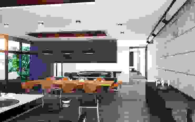CASA PR Comedores modernos de 12.20 Estudio de Arquitectura Moderno Piedra