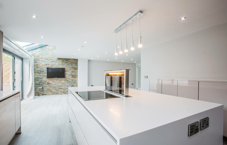 House 2 Modern kitchen by Whitshaw Builders LTD Modern Marble