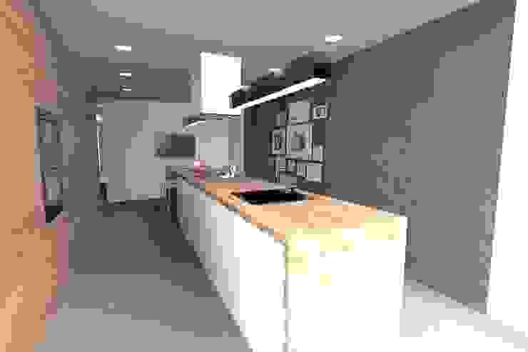 Casa J Cozinhas minimalistas por Colectivo de Melhoramentos Minimalista