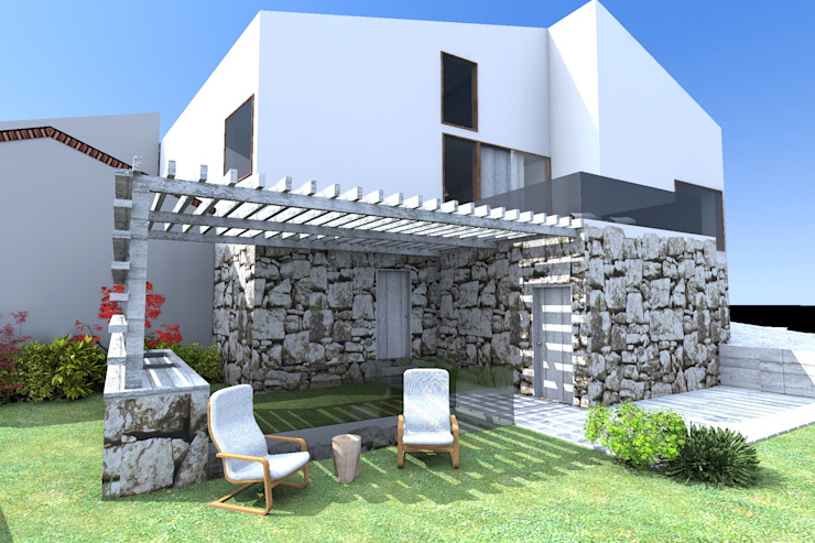 Casa ZL Casas minimalistas por Colectivo de Melhoramentos Minimalista