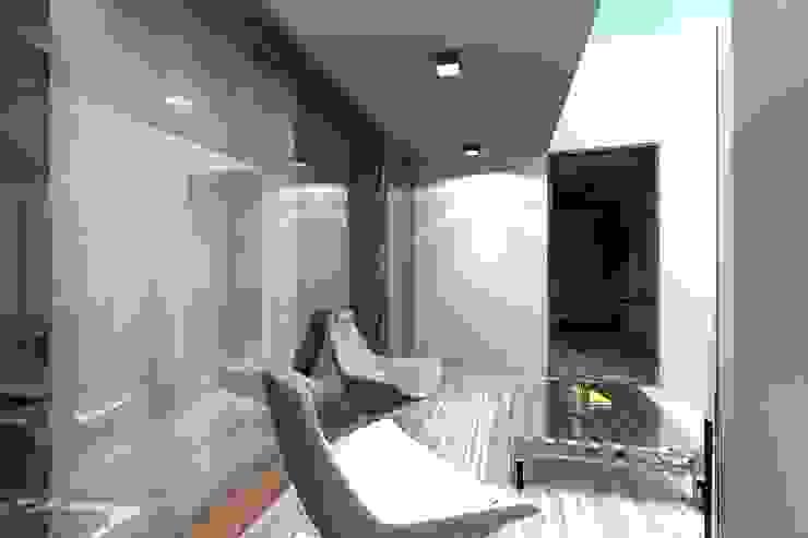 Casa ZL Varandas, marquises e terraços minimalistas por Colectivo de Melhoramentos Minimalista