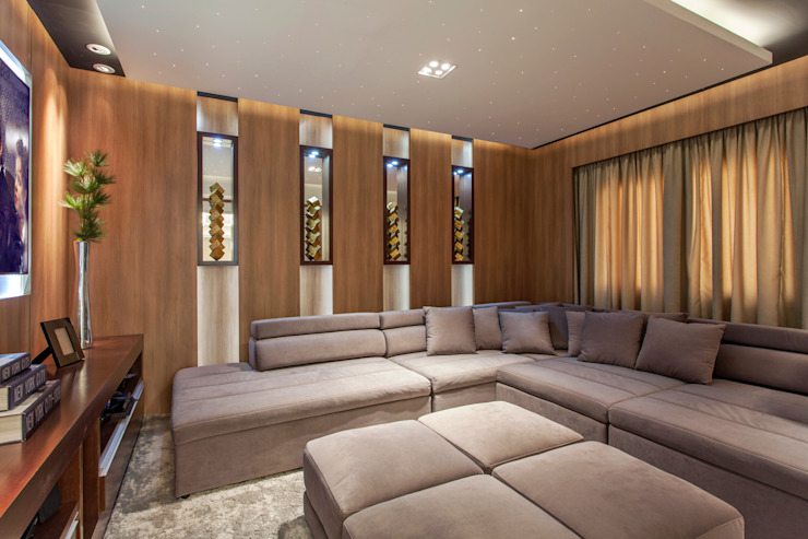 Salas de entretenimiento de estilo  por Designer de Interiores e Paisagista Iara Kílaris, Moderno