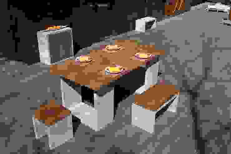 Mobiliário Exterior Concrete Kit por Amop Minimalista