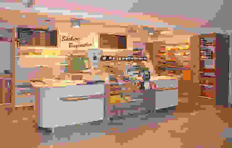 Bäckerei Rustikale Geschäftsräume & Stores von herpich & rudorf GmbH + Co. KG Rustikal